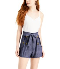 almost famous juniors' paperbag-waist romper