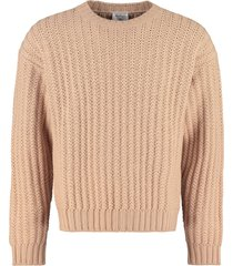 salvatore ferragamo crew-neck wool sweater