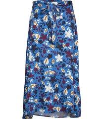 skirt maxi lång kjol blå marc o'polo