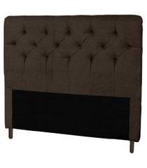 cabeceira casal 140cm para cama box ravena corino marrom - ds móveis