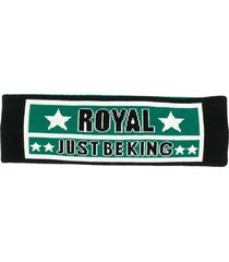 dolce & gabbana royal print headband - green