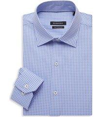 bugatchi men's regular-fit check dress shirt - pink - size 16