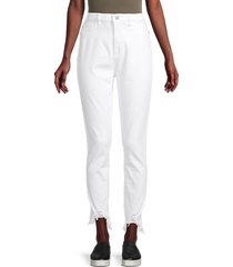 dl1961 women's chrissy ultra high-rise skinny jeans - white - size 24 (0)