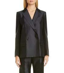 women's givenchy double breasted wool & silk jacket