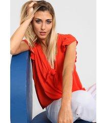 blusa roja nano lila