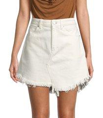 free people women's denim mini skirt - coconut - size 24 (0)