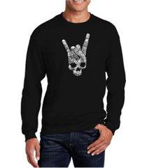 la pop art big & tall men's word art heavy metal genres crewneck sweatshirt