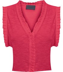 blusa feminina poncho - vermelho