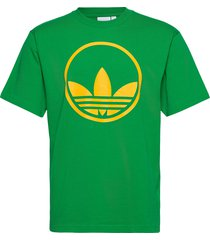 circle trefoil t-shirts short-sleeved grön adidas originals