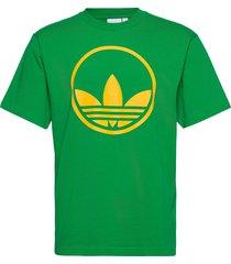 circle trefoil t-shirts short-sleeved grön adidas originals