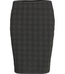 frmecheck 4 skirt kort kjol grå fransa