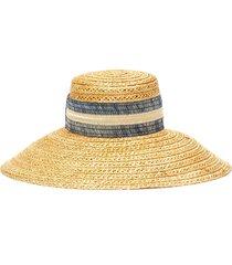 'mirabel' vented straw ribbon band hat