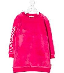 billieblush bleach-effect jumper dress - pink