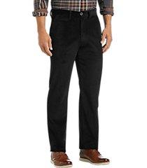 joseph abboud black corduroy modern fit casual pants
