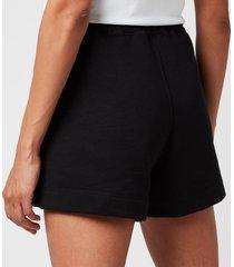 ganni women's isoli shorts - black - l