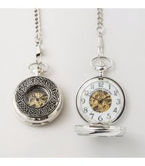 personalized celtic mechanical pocket watch