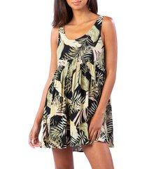 women's rip curl coastal palms dress, size x-large - black