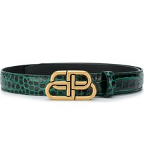 balenciaga bb thin belt - green
