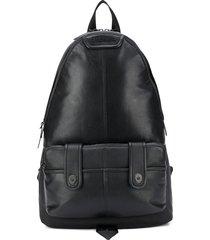 diesel paneled backpack - black
