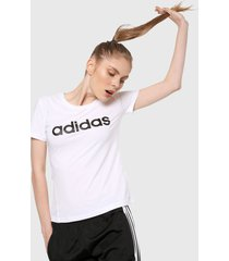 camiseta blanco adidas performance desing 2 move