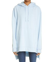 burberry aurore deer print oversize cotton hoodie, size small in pale blue at nordstrom
