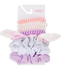 kid's 8-piece assorted scrunchie & hair tie set