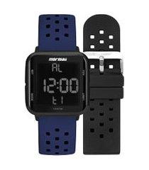 relógio digital mormaii feminino - mo6600ant8a preto