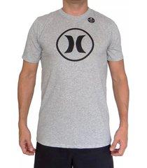 camiseta hurley df circle icon para hombre - gris