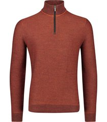 bugatti trui rits in kraag oranje rood
