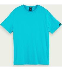 scotch & soda basic t-shirt van biologisch katoen met korte mouwen