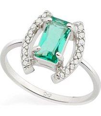 anel aro fino cristal e zircônias rommanel