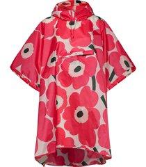 rain poncho unikko rain poncho regnkläder rosa marimekko
