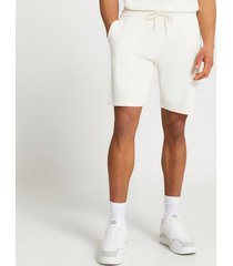 river island mens ecru slim fit linen shorts