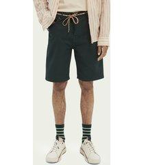 scotch & soda garment-dyed 5-pocket twill short