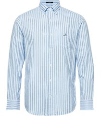 d1. wb oxford stripe reg bd overhemd business blauw gant