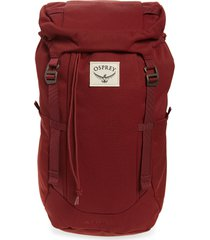 men's osprey archeon 28l backpack - red