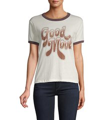 graphic short-sleeve cotton-blend tee