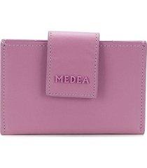 medea logo plaque wallet - purple