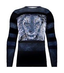 rash guard spartanus fightwear black lion