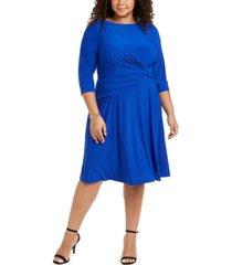 jessica howard plus size side-twist jersey dress
