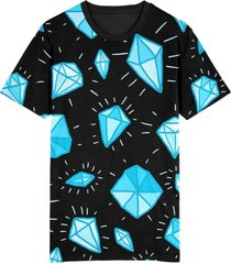 camiseta migian diamantes full print preto - kanui