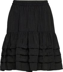 amelia skirt kort kjol svart soft rebels