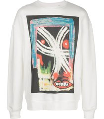 haculla till i snap drop shoulder sweatshirt - white