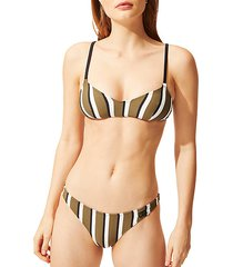 the rachel striped bikini top