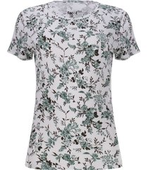 camiseta mujer floral color verde, talla s