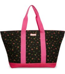 betsey johnson forbidden fruit canvas large tote