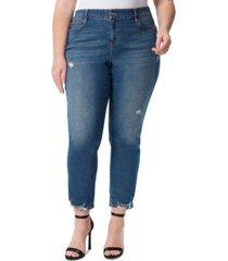 jessica simpson trendy plus size spotlight high rise straight-leg jeans