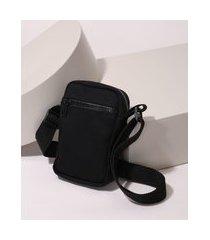 bolsa de sarja masculina shoulder bag preta