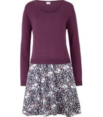 abito in maglia 2 in 1 a manica lunga (viola) - john baner jeanswear