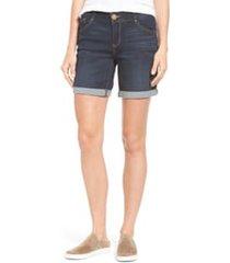 wit & wisdom ab-solution cuffed denim shorts, size 0 in indigo at nordstrom